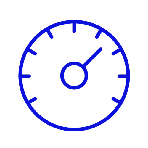 Blue icon showing a timer