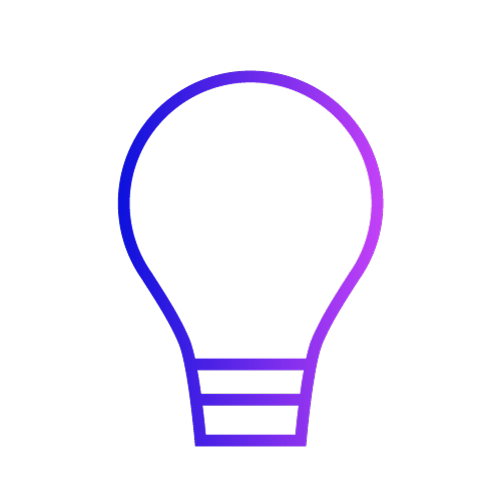 Gradient icon showing a lightbulb