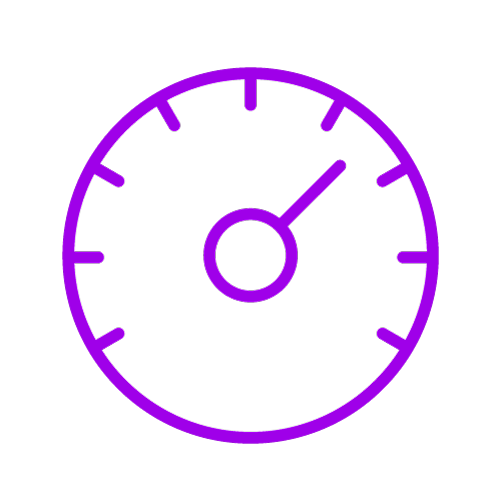 Purple icon showing a timer
